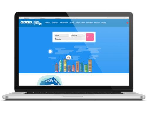 Así es el portal inmobiliario de las agencias de Adaix