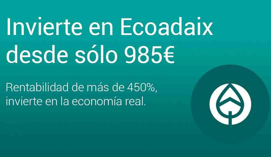 EcoAdaix Group le ofrece una importante rentabilidad en una empresa con un futuro muy prometedor
