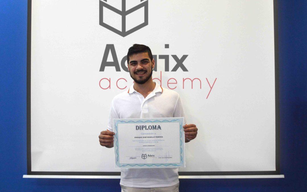 El alumno con la nota más alta de Adaix Academy